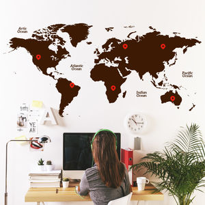 World Map Wall Sticker - home decorating
