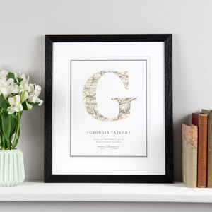 New Baby Letter Print