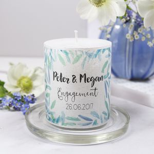 Engagement Personalised Patterned Candle - candles & home fragrance