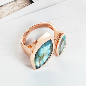 Rose Gold Cocktail Ring Celestine - statement jewellery