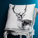 Deer With Antlers Cushion