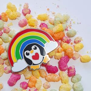 Epic Rainbow Penguin Hard Enamel Pin