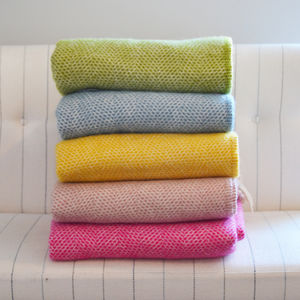 Mosaic Pure New Wool Blanket And Throw