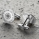 Personalised Sterling Silver Coordinates Cufflinks