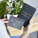 Personalised Hidden Pocket Notebook And Postcard Set