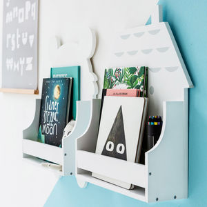 Children's Wooden House Shelf - shelves