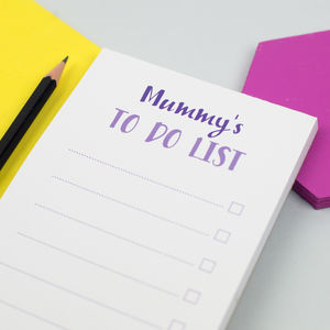 Personalised To Do List For Mummy Notepad