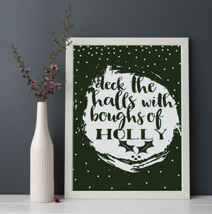 Deck The Halls Christmas Print - children's room