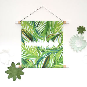 Leaf Watercolour Baby Heartbeat Wall Hanging Print