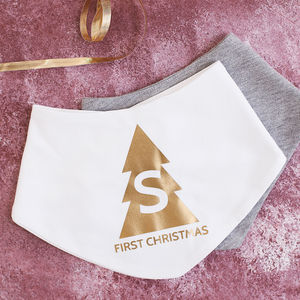 Personalised Baby's First Christmas Bib - baby's first christmas