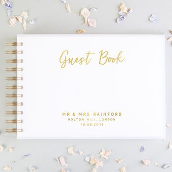 Acrylic Wedding Guest Book Calligraphy