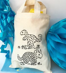Colour In Party Bag With Dinosaurs