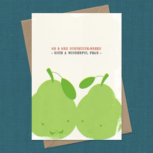 Personalised Wonderful Pear A5 Card - wedding cards & wrap