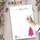 Personalised Christmas Thank You Writing Set