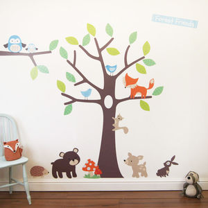 Woodland Tree Wall Stickers - winter sale