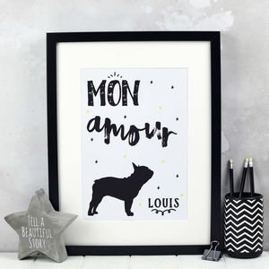 Personalised French Bulldog Print - animals & wildlife
