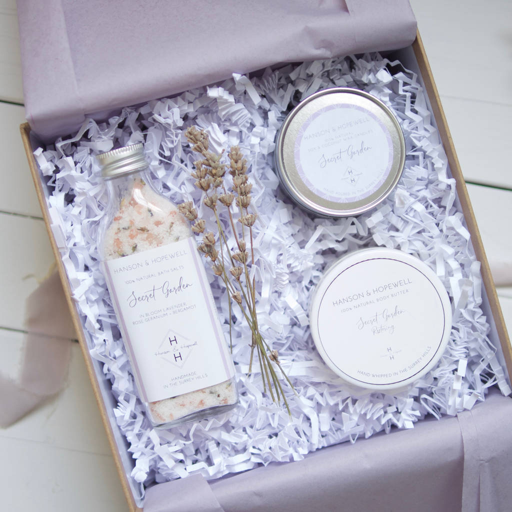 Build Your Own Natural Bath And Body Gift Set