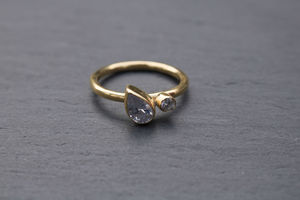 Fairtrade Gold Pear Ring
