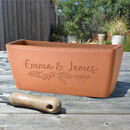 Personalised Name Terracotta Window Pot