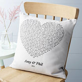 Personalised Song Cushion Cover - wedding gifts