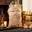Personalised Geometric Animal Christmas Sack