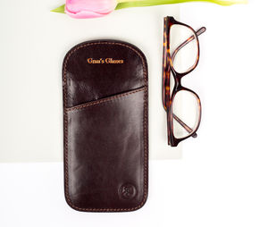 Ladie's Personalised Leather Glasses Case.'The Rufeno'