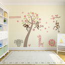 Thumb pastel blossom tree with animals wall sticker