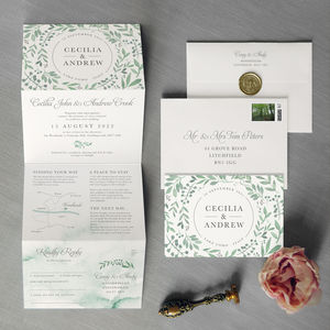 Secret Garden Wedding Invitation - save the date cards