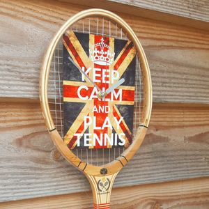 Keep Calm Tennis Racket Clock - clocks