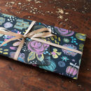 midnight floral wrapping paper for exciting gifts