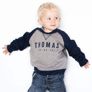 Personalised Baby/Child Boy's Sweatshirt