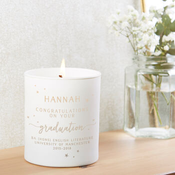 Graduation Gift Personalised Candle