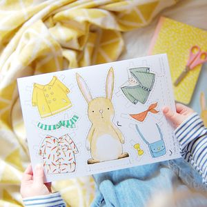 Dress up a rabbit card by clara and macy notonthehighstreet negle Choice Image