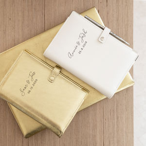 Personalised Leather Wedding Organiser - new in wedding styling