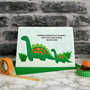 'Dinosaur' Personalised Christmas Card From Children