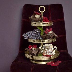 Nordal Deluxe Metallic Cake Stand - kitchen