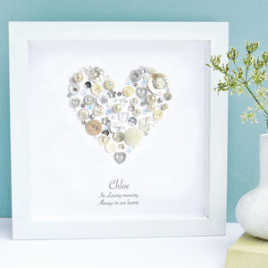 Personalised 'In Loving Memory' Pearl Framed Art