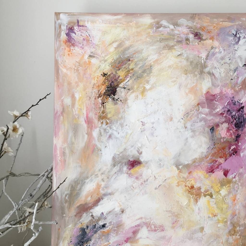 pastel abstract art painting on cotton canvas by paint-me-happy art ...