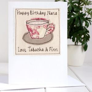 Personalised Tea Cup Birthday Card - birthday cards