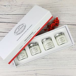 Wilkin And Sons Set Of Four Miniature Scented Candles - outdoor lighting & candles