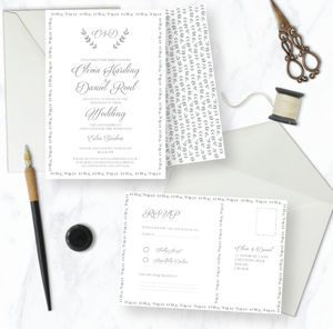 Josephine Wedding Invitation Range - save the date cards