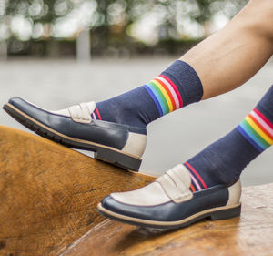 Rainbow Stripe Fine Sock - brand new partners