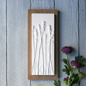 Lavender No.One Plaster Cast Wall Plaque