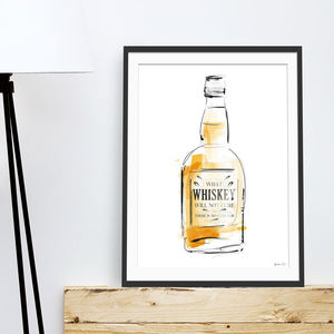 'Whiskey Cure' Alcohol Art Print
