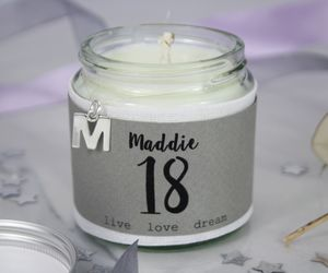 Personalised 18th Birthday Charm Candle