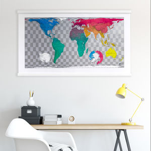 World Map Wall Print - maps & locations