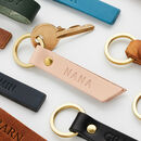 Personalised Leather Debossed Keyring