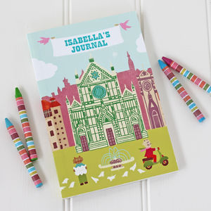 Personalised Children's Travel Journal - notebooks & journals