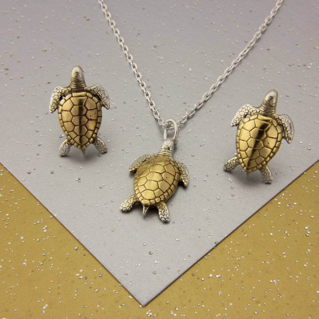 stud turtle sea earrings my