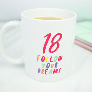 18th Personalised Birthday Gift Mug - dining room